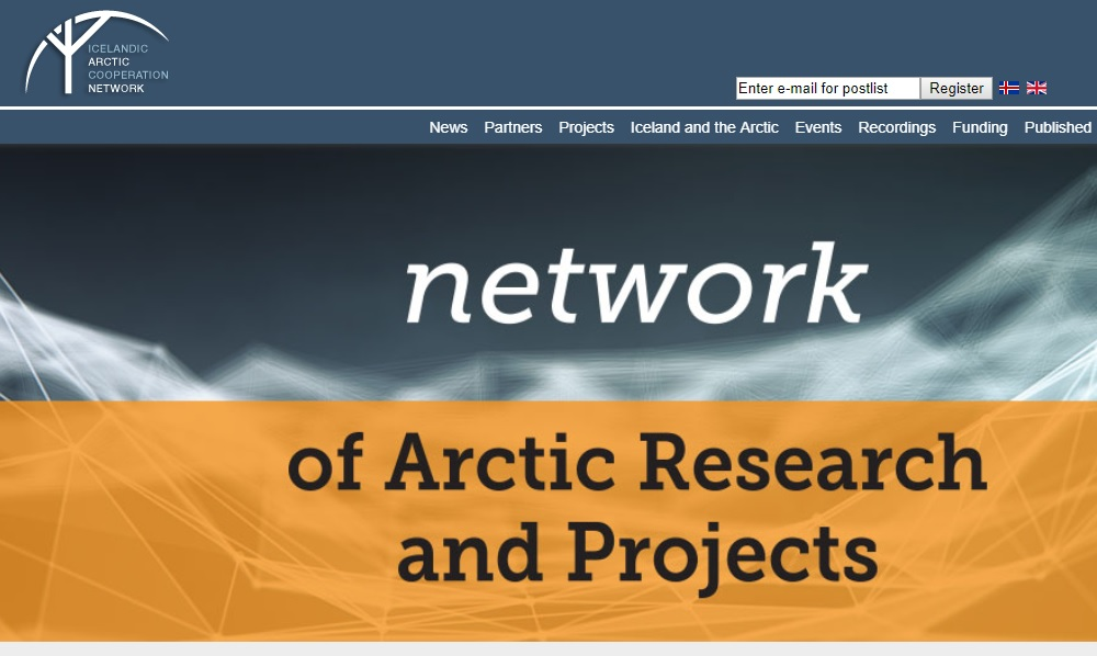 The Icelandic Arctic Cooperation Network - screenshot